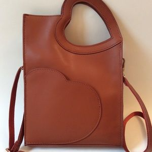 Heart To Handle Leather Crossbody Bag